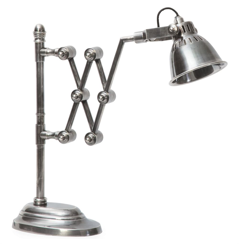 Industrial Vintage Steel Library Lamp Extendable Arm