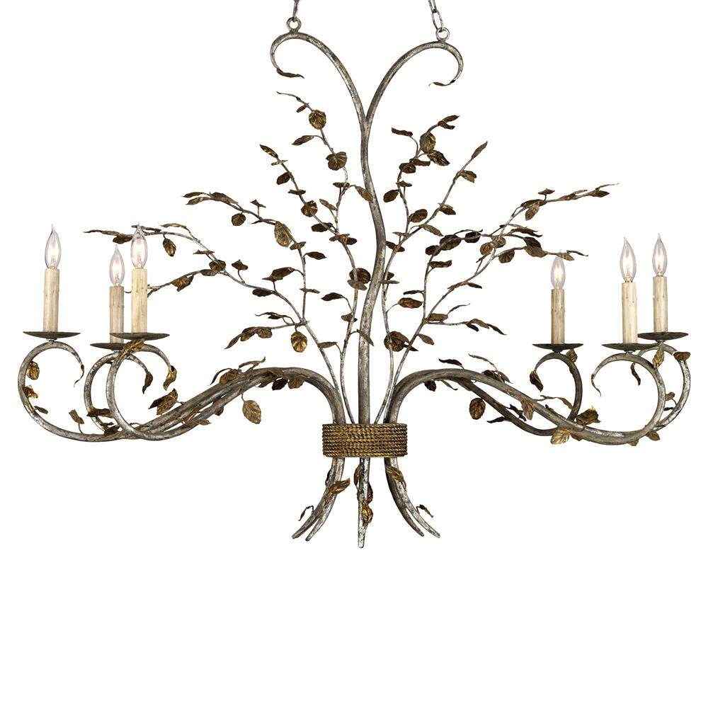 Boca Leaf Branch Organic Style 6 Light Chandelier
