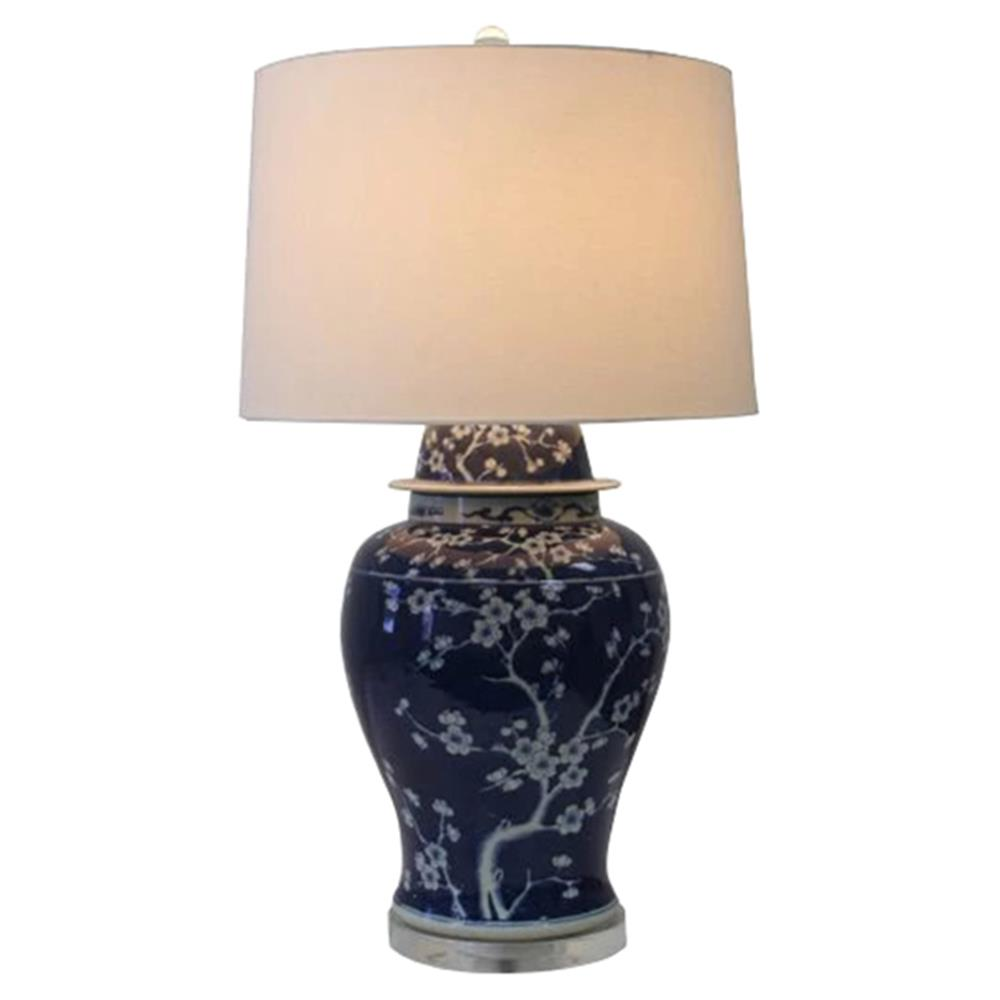 Cade Modern Classic Blue And White Plum Blossom Porcelain Table Lamp |  Kathy Kuo Home