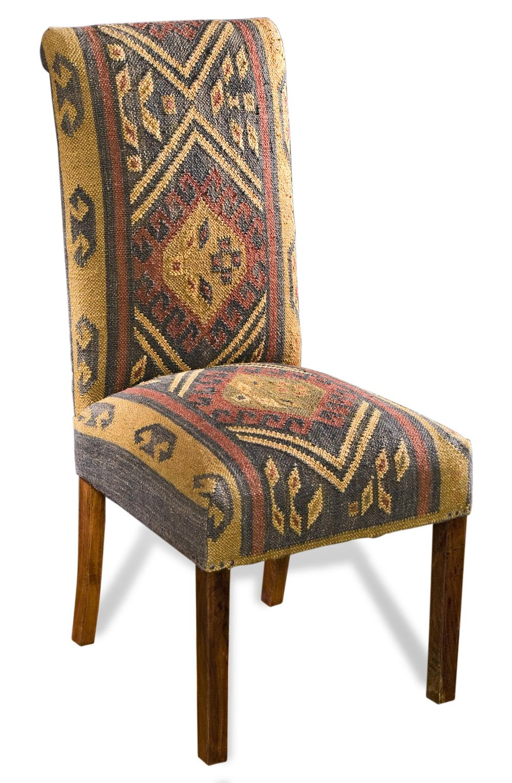 Copper Creek Rustic Cabin Woven Kilim Dining Chairs  : product348 from www.kathykuohome.com size 1000 x 1528 jpeg 233kB