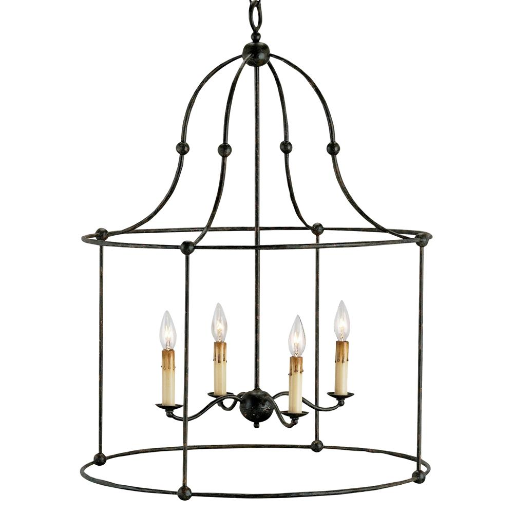 Orenda Industrial Loft Wrought Iron Black Lantern