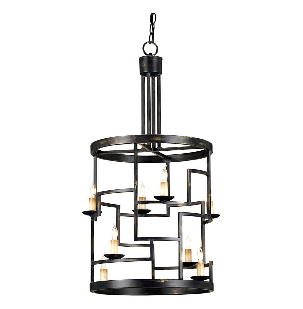 spigo mid century modern metal cylinder 8 light pendant lamp. Black Bedroom Furniture Sets. Home Design Ideas