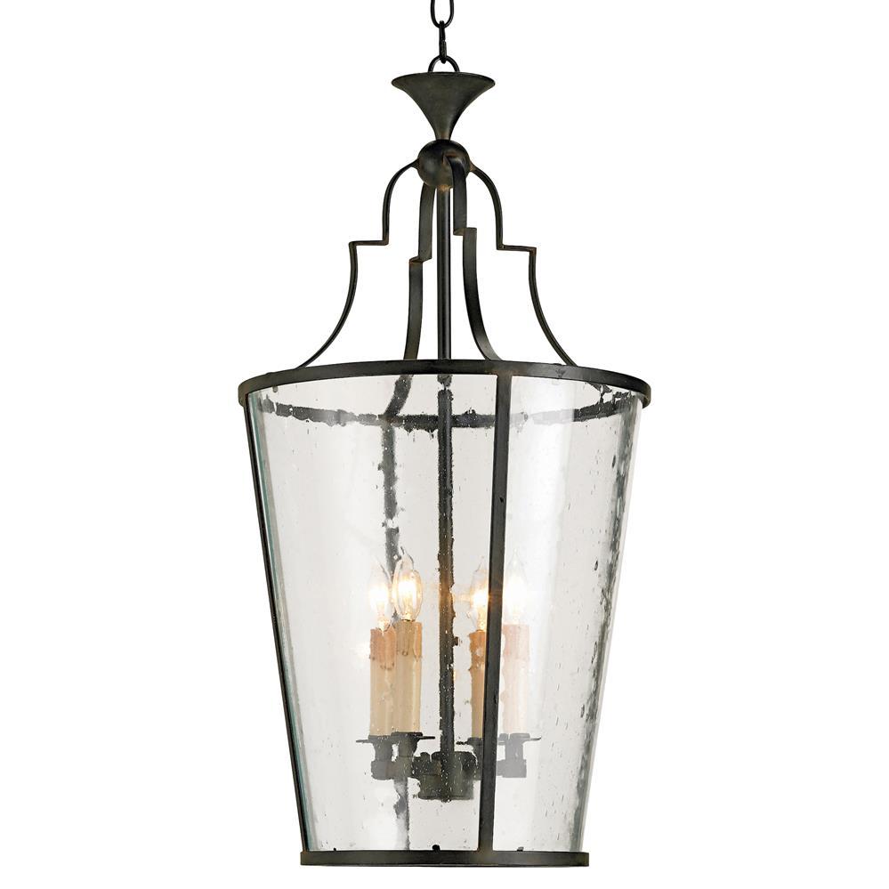 glass wrought 4 light iron bucket lantern pendant kathy kuo home. Black Bedroom Furniture Sets. Home Design Ideas