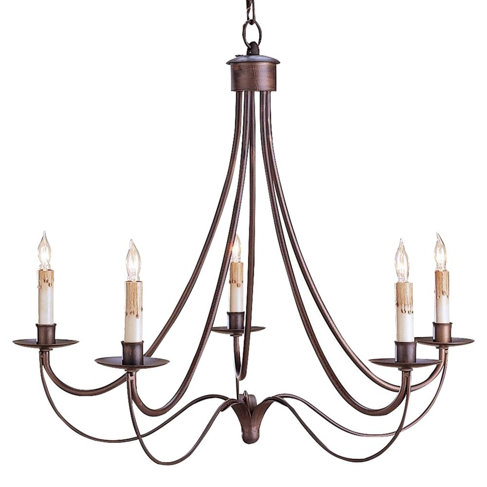 Bronze Light Chandeliers : Melisenda french country rubbed bronze wrought iron