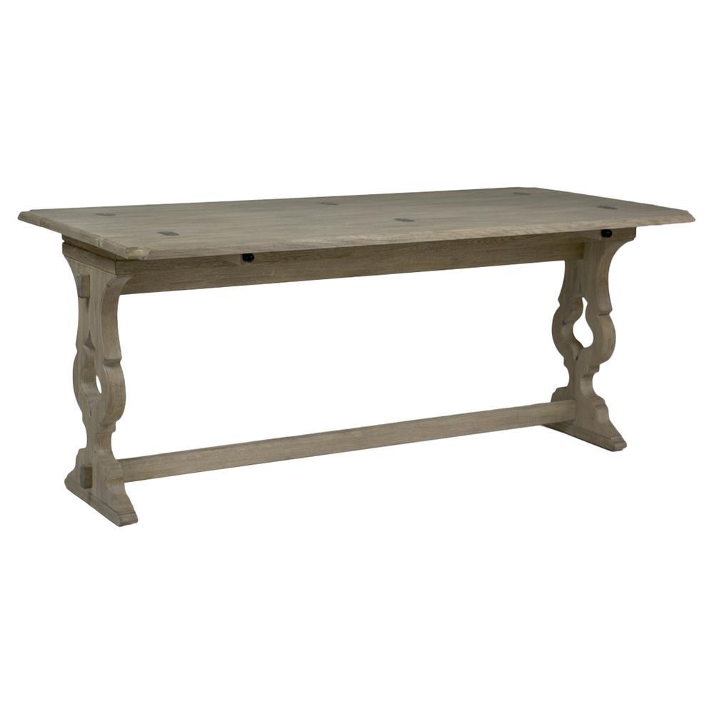 bali french country beige oak flip top dining table. Black Bedroom Furniture Sets. Home Design Ideas