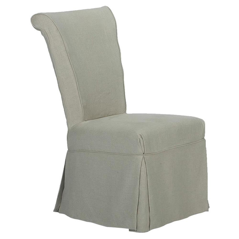 Danna French Country Grey Linen Slipcover Dining Room Chair