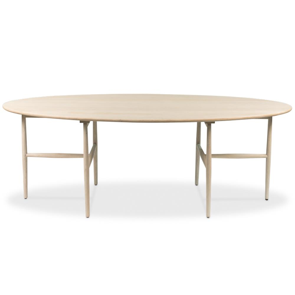 Modern Oak Dining Tables: Glenn Mid-Century Modern White Oak Oval Dining Table
