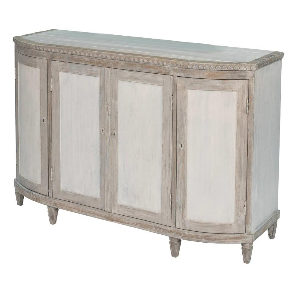 Judy Rustic French Grey White Reclaimed PIne Wood Buffet