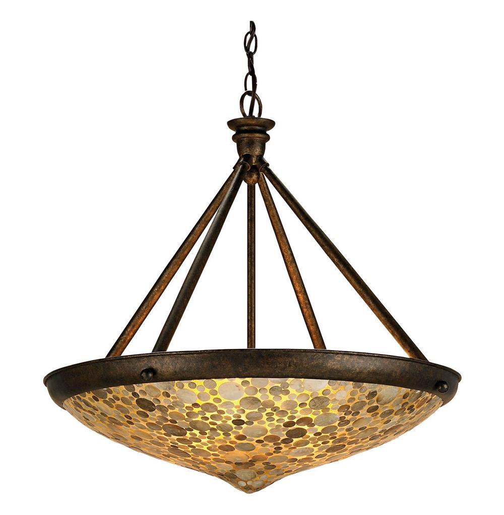 ellemere modern capiz shell inlay saucer 3 light wrought. Black Bedroom Furniture Sets. Home Design Ideas