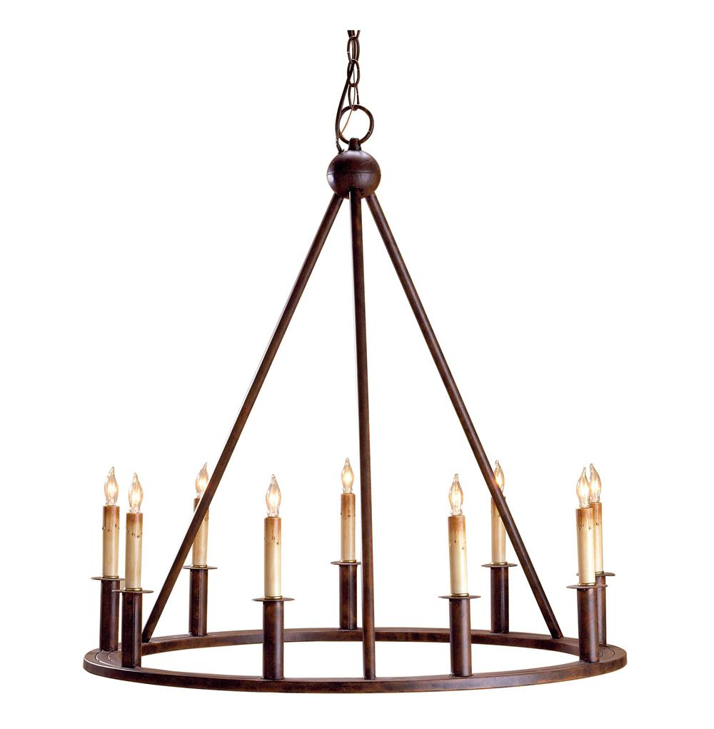 Fiona Wrought Iron Circular 9 Light Chandelier Kathy Kuo
