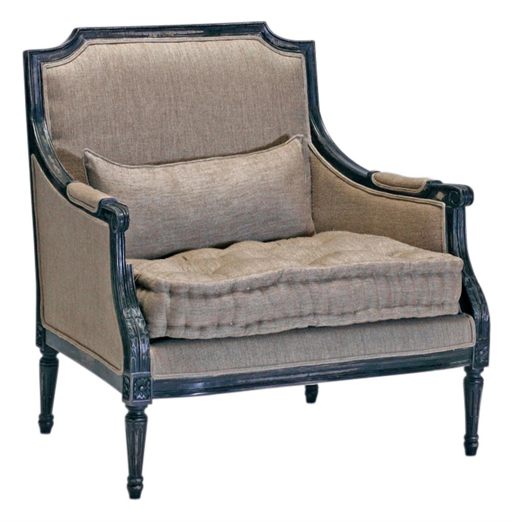 Stephan Masculine French Country Antique Black Accent