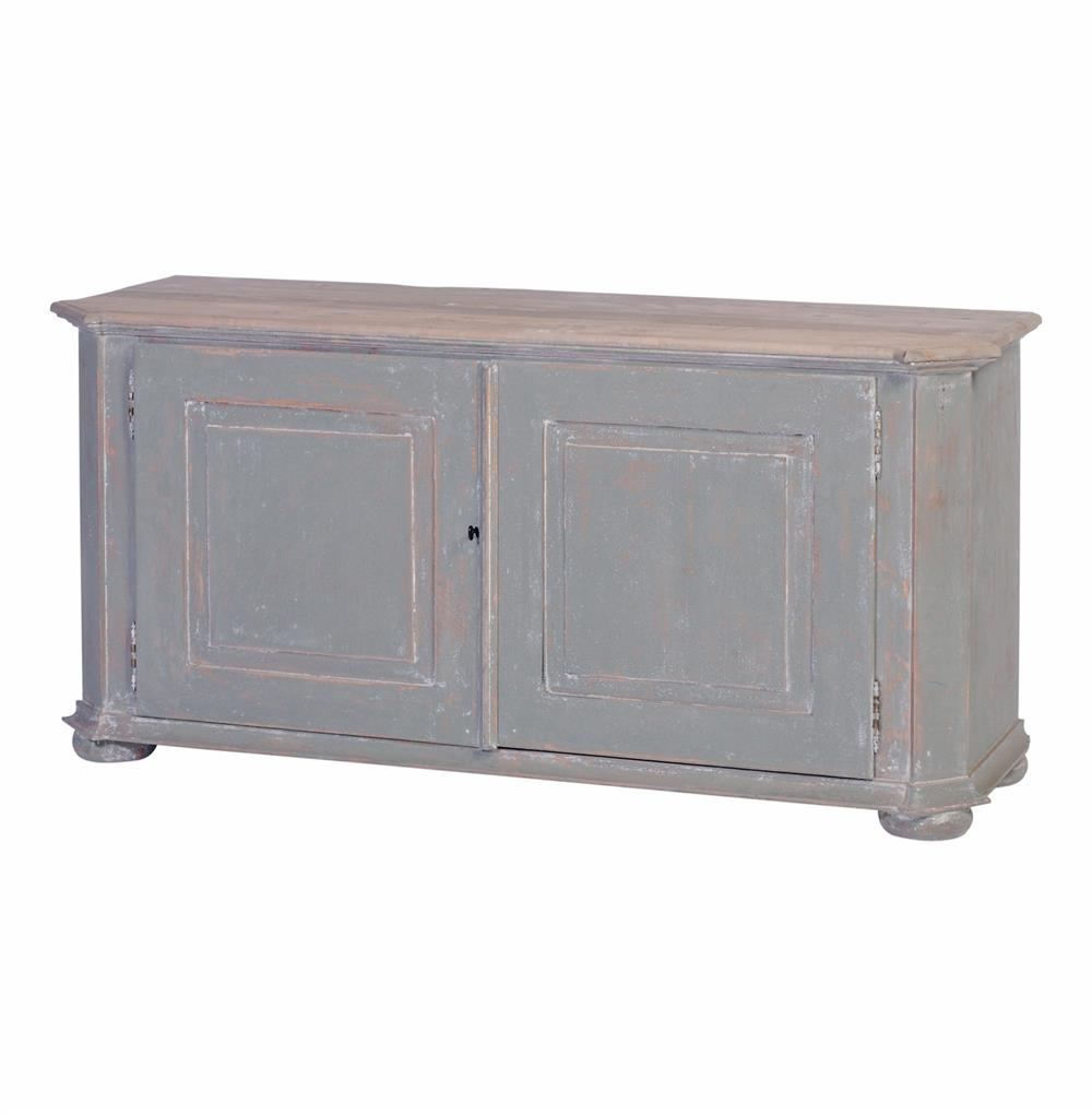 Walker Hand Painted Soft Blue Green French Country Media