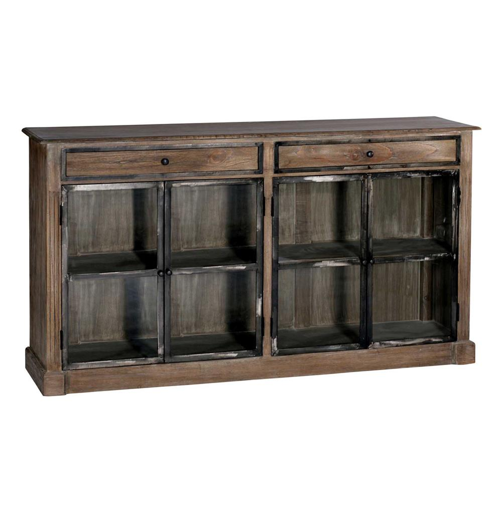 marco country rustic wood iron narrow cabinet kathy kuo home