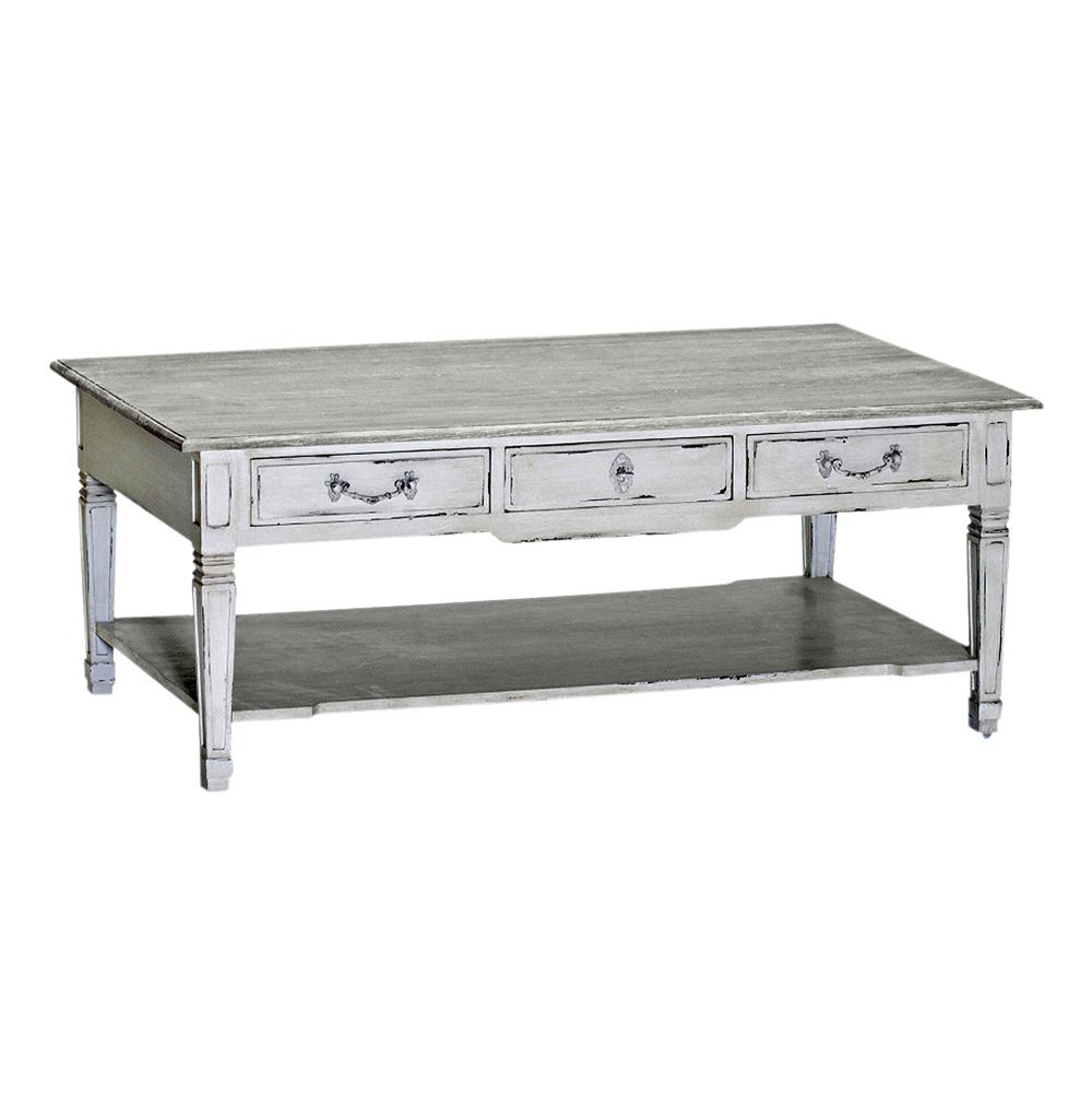 French Country Distressed Coffee Table: Grace French Country Antique White Shabby Chic Coffee Table