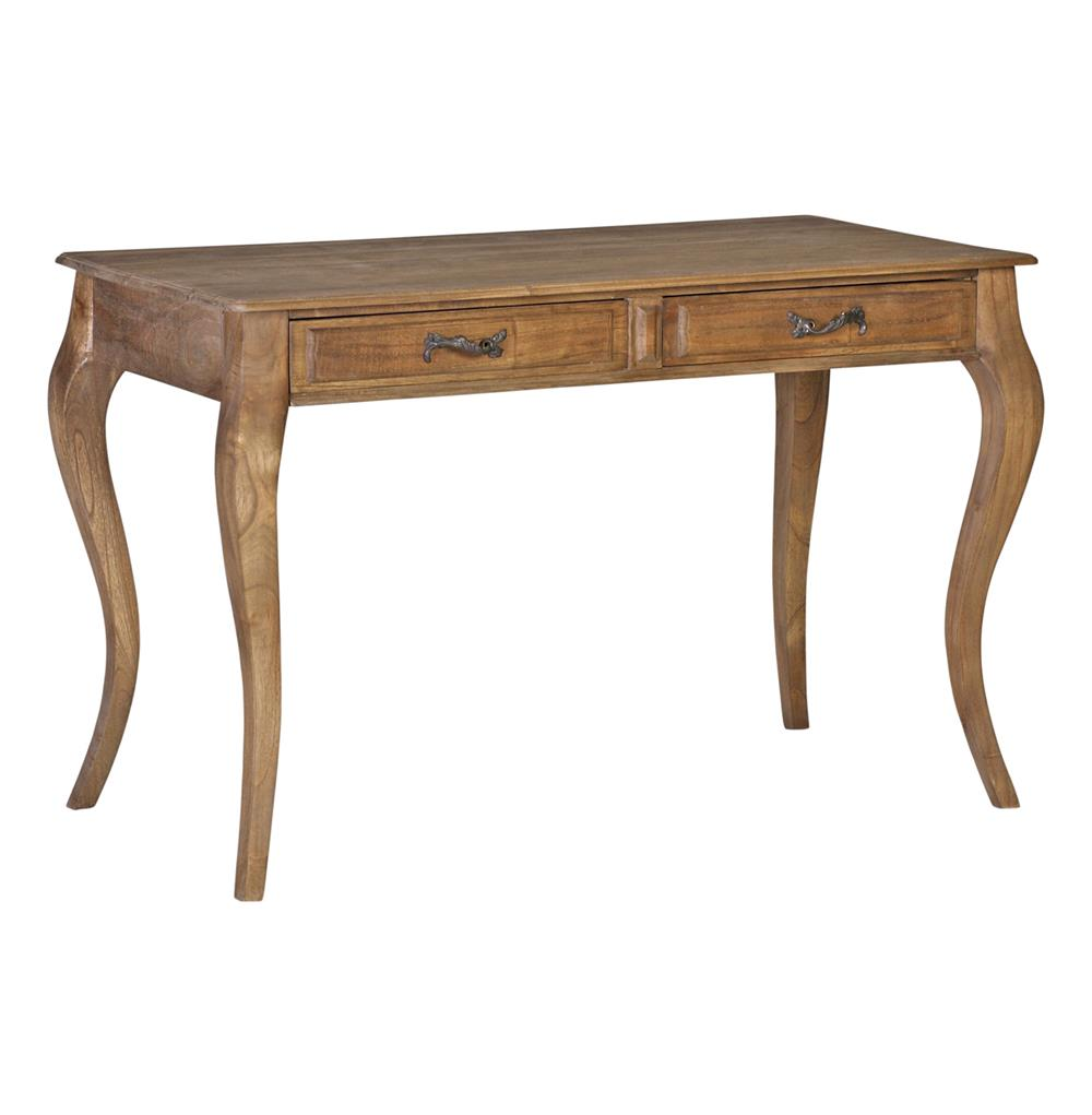 Wesley Traditional Solid Wood Carved French Style Writing Desk