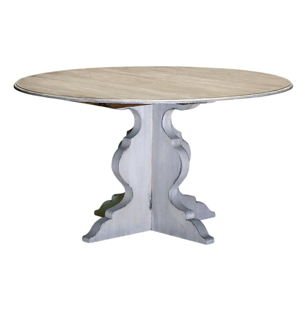 Mary Antique White French Deco Round Dining Table 54 Quot D