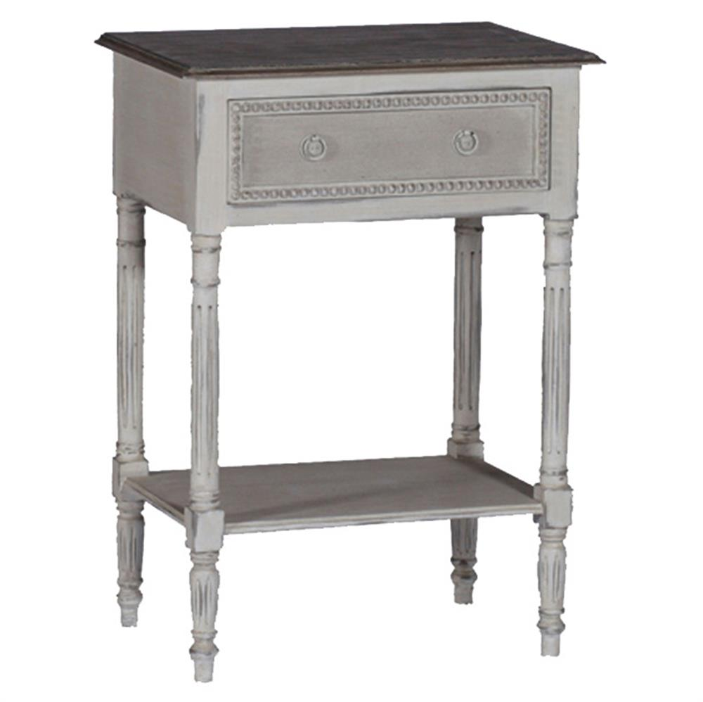 Carine Swedish Gustavian French Delicate Side Table Nightstand Kathy Kuo Home