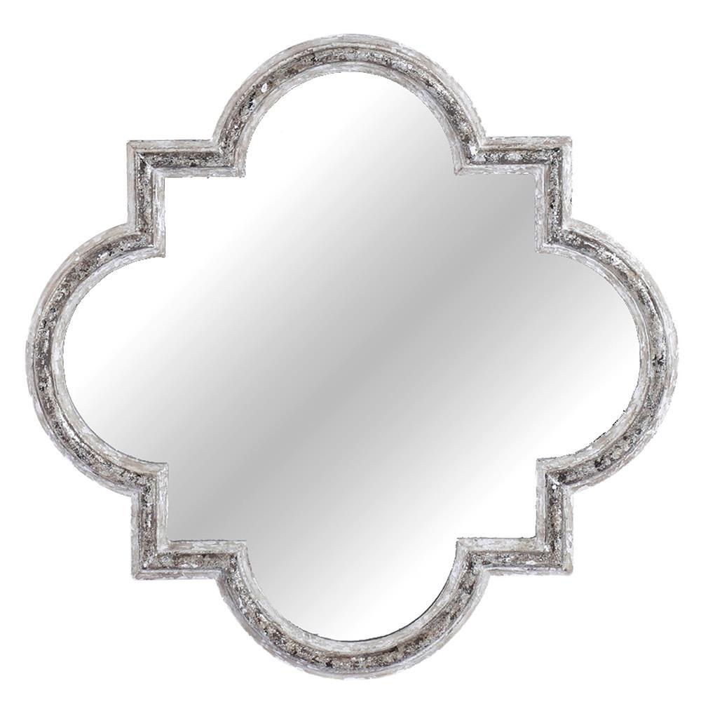 Maggie French Baroque Shabby Chic Quatrefoil Mirror