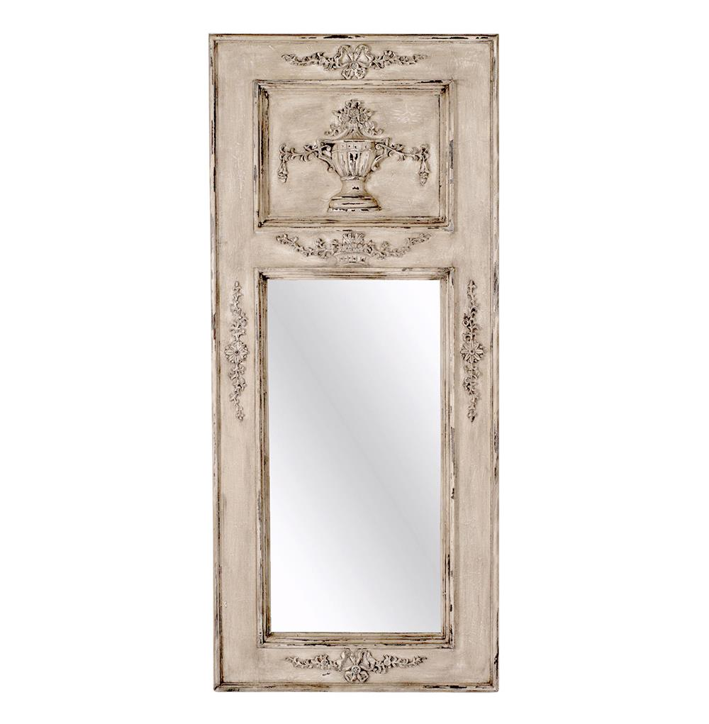 Abbey french carved gustavian tremeau hall mirror kathy for French mirror