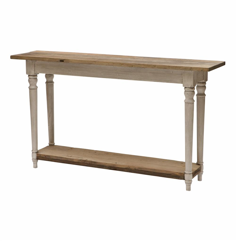 Bordeaux French Cottage Reclaimed Wood Round Console Hall