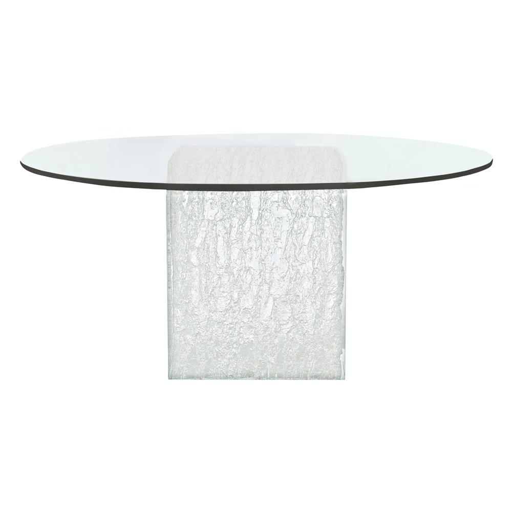 Uma Modern Clic Round Gl Top Silver Acrylic Dining Table Kathy Kuo Home