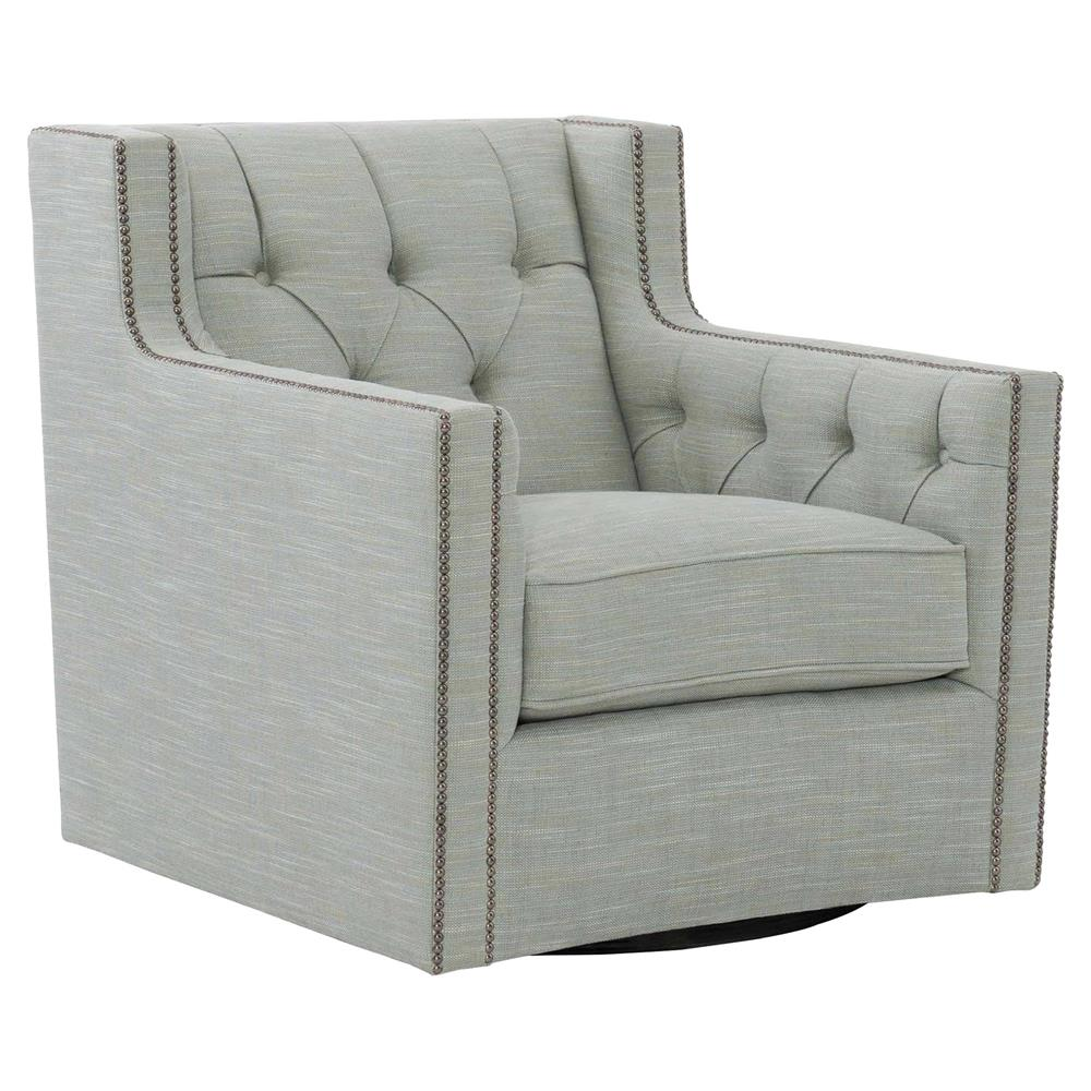 Brody French Country Grey Upholstered Swivel Living Room ...