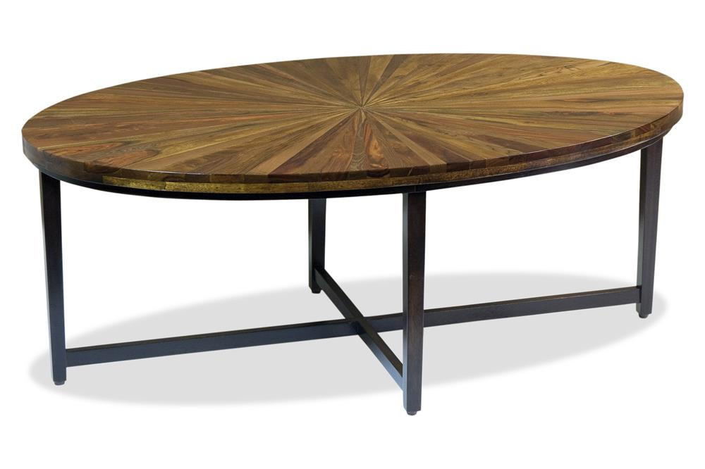 Tables Coffee Tables Xicala Modern Rustic Oval Starburst Cocktail