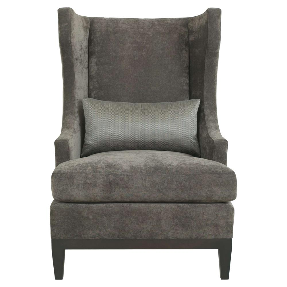 Ryker modern classic grey brown upholstered wing back - Modern upholstered living room chairs ...