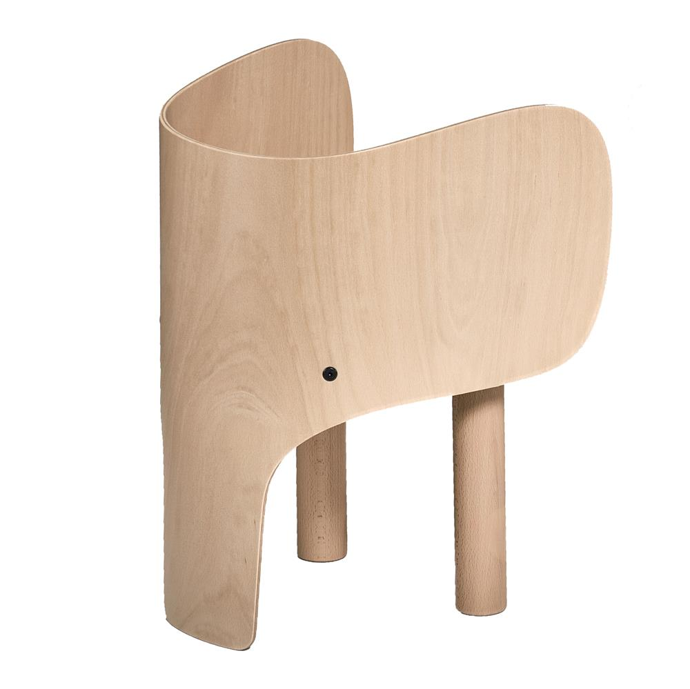 Elephant Shaped Wooden Chair