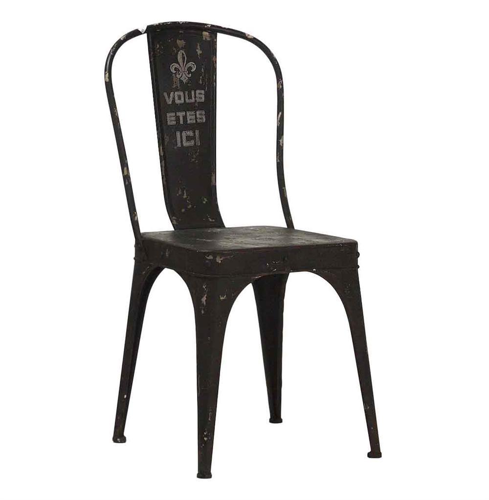Vous Etes Ici French Iron Rustic Black Cafe Chair Kathy Kuo Home