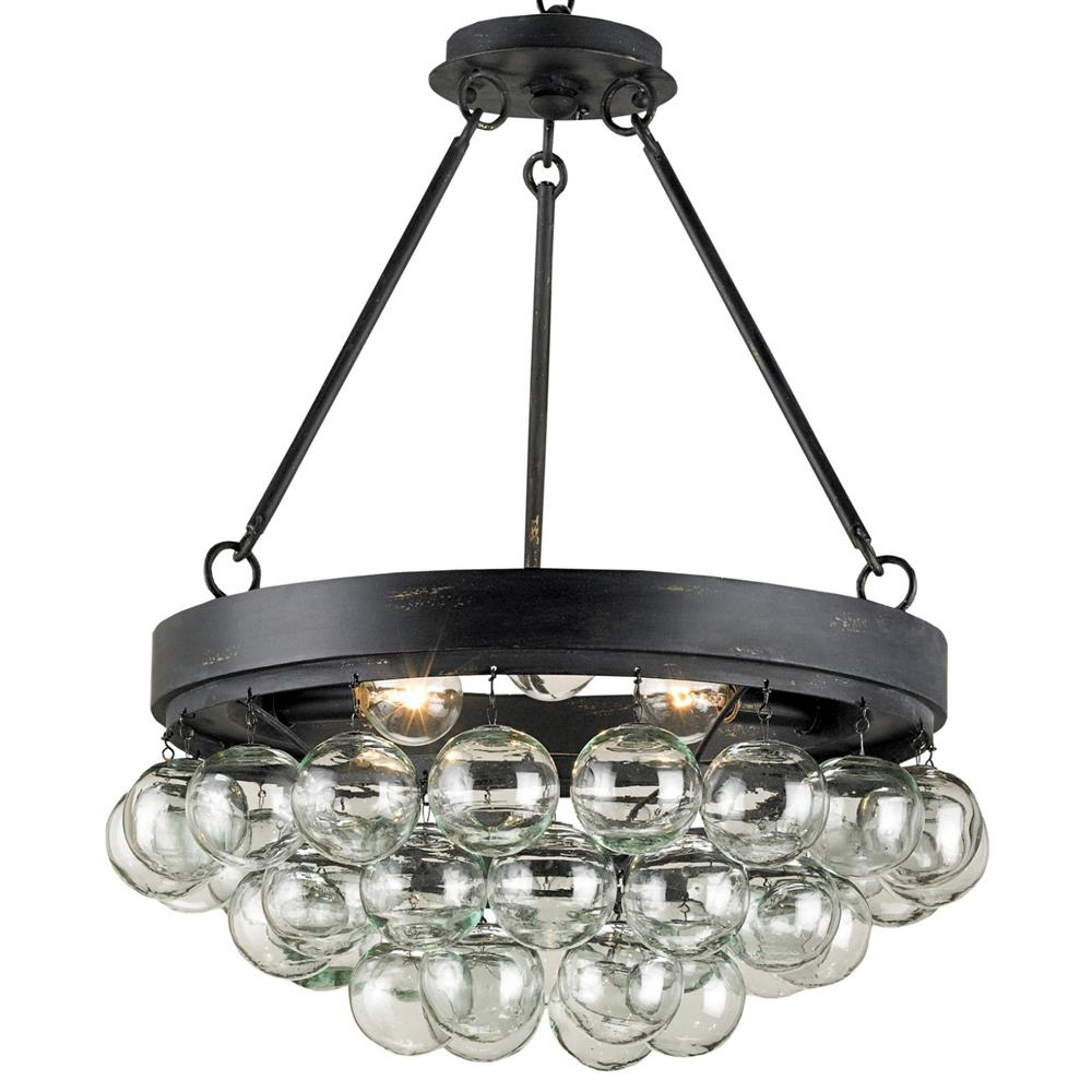Pastis blown glass balls modern 3 light ceiling mount kathy kuo home aloadofball Image collections