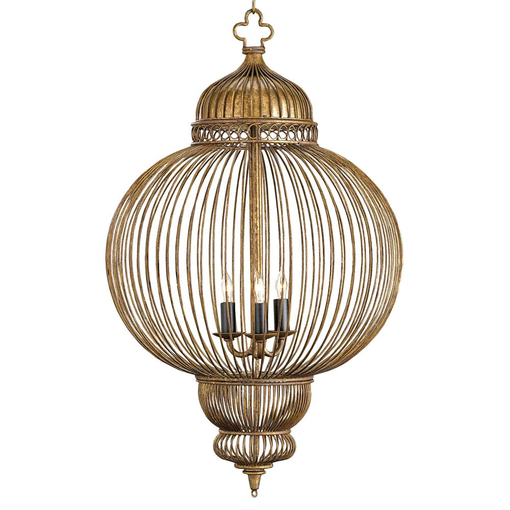 Claydon Antique Gold Moroccan Style 3 Light Lantern