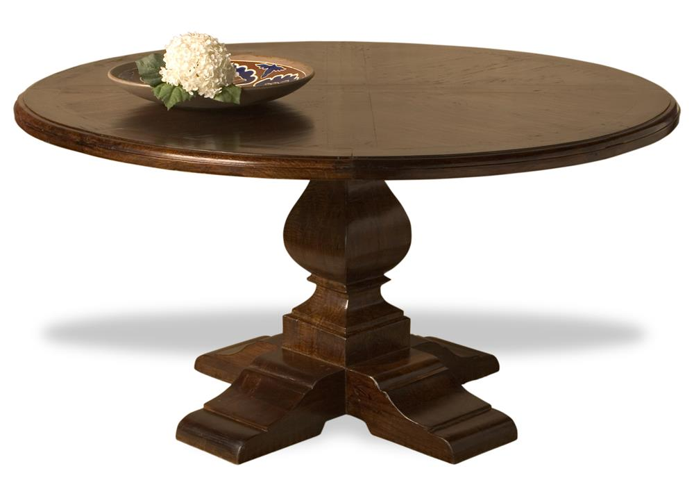 valpariso spanish style solid chestnut wood center round dining table. Black Bedroom Furniture Sets. Home Design Ideas