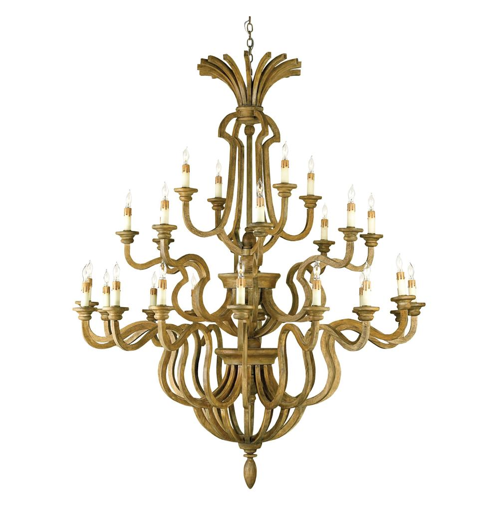 French country chestnut wood 28 light grand chandelier French country chandelier
