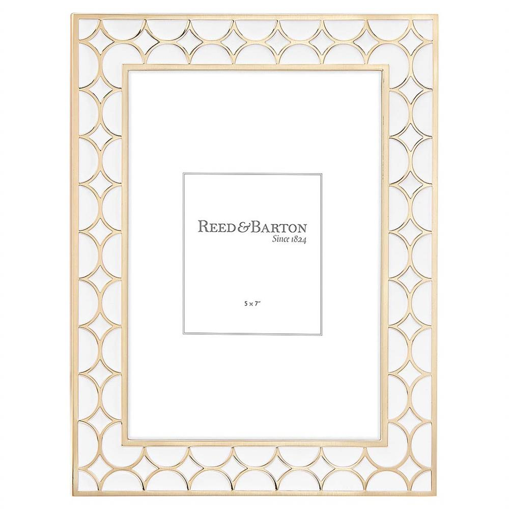 Lenox Circles 5x7 White And Gold Frame By Reed Barton Kathy