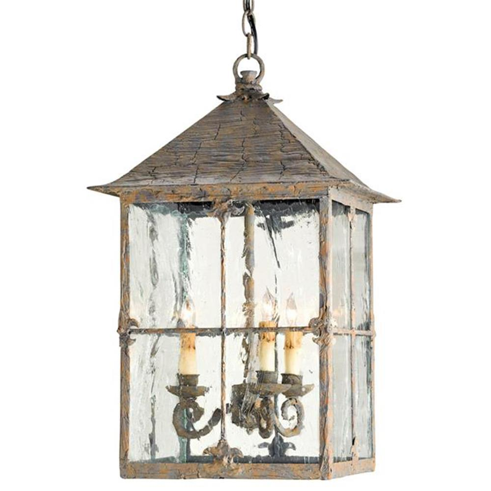 Pagoda bird cage seeded glass 3 light lantern lamp kathy kuo home mozeypictures Gallery
