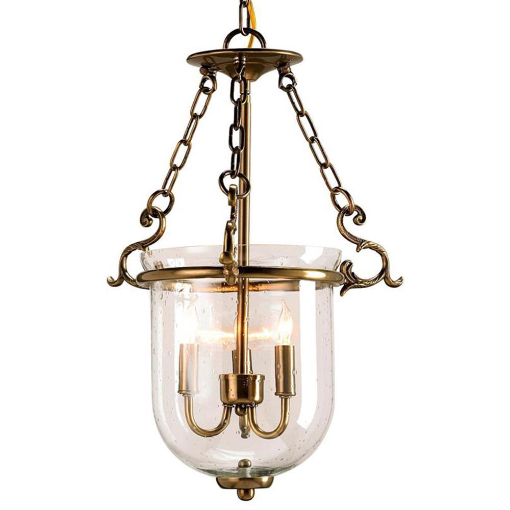 Petit Paris Glass Pendant Light For Sale: Petit Athena Hanging Glass Dome 3 Light Lantern Pendant