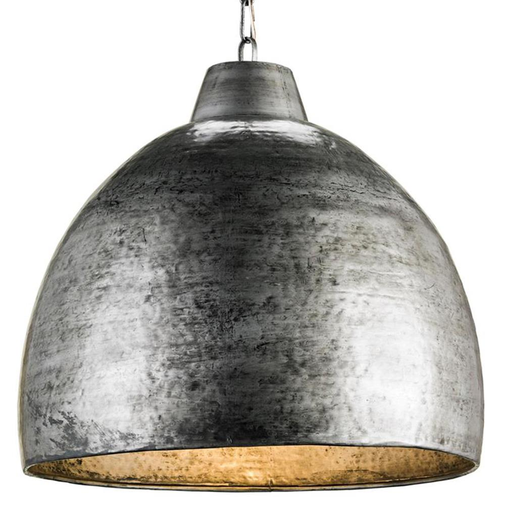 Industrial Loft Hammered Metal Modern 1 Light Pendant