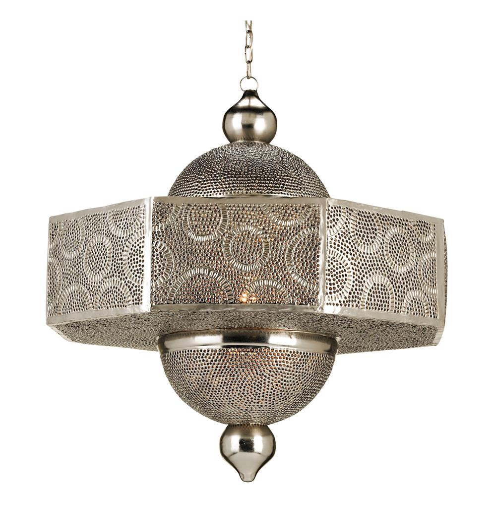 Hanging Lamp Moroccan: Ornate Pierced Metal Filigree Moroccan Style 1 Light