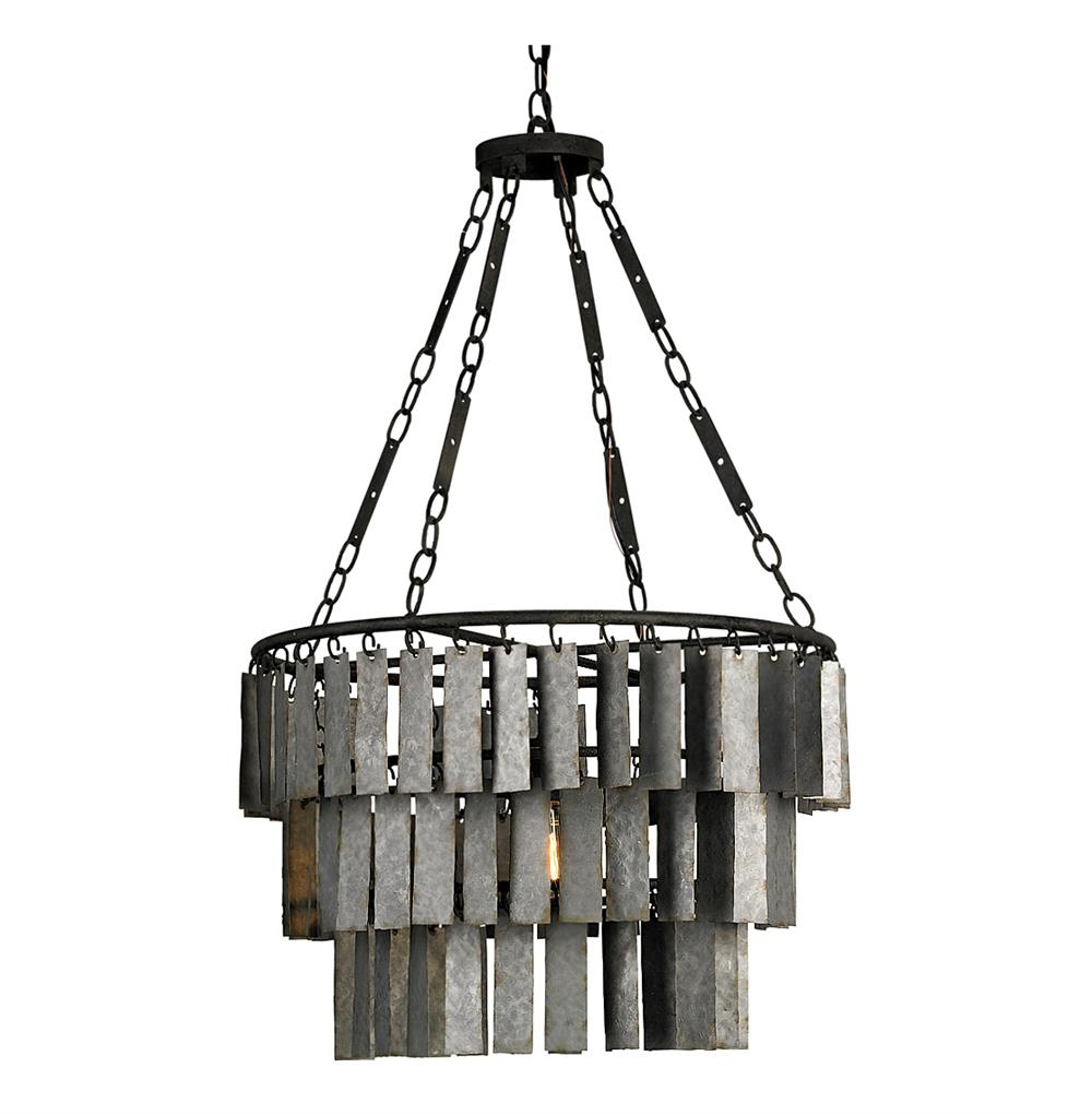 vintage three tier gray steel 1 light pendant kathy kuo home