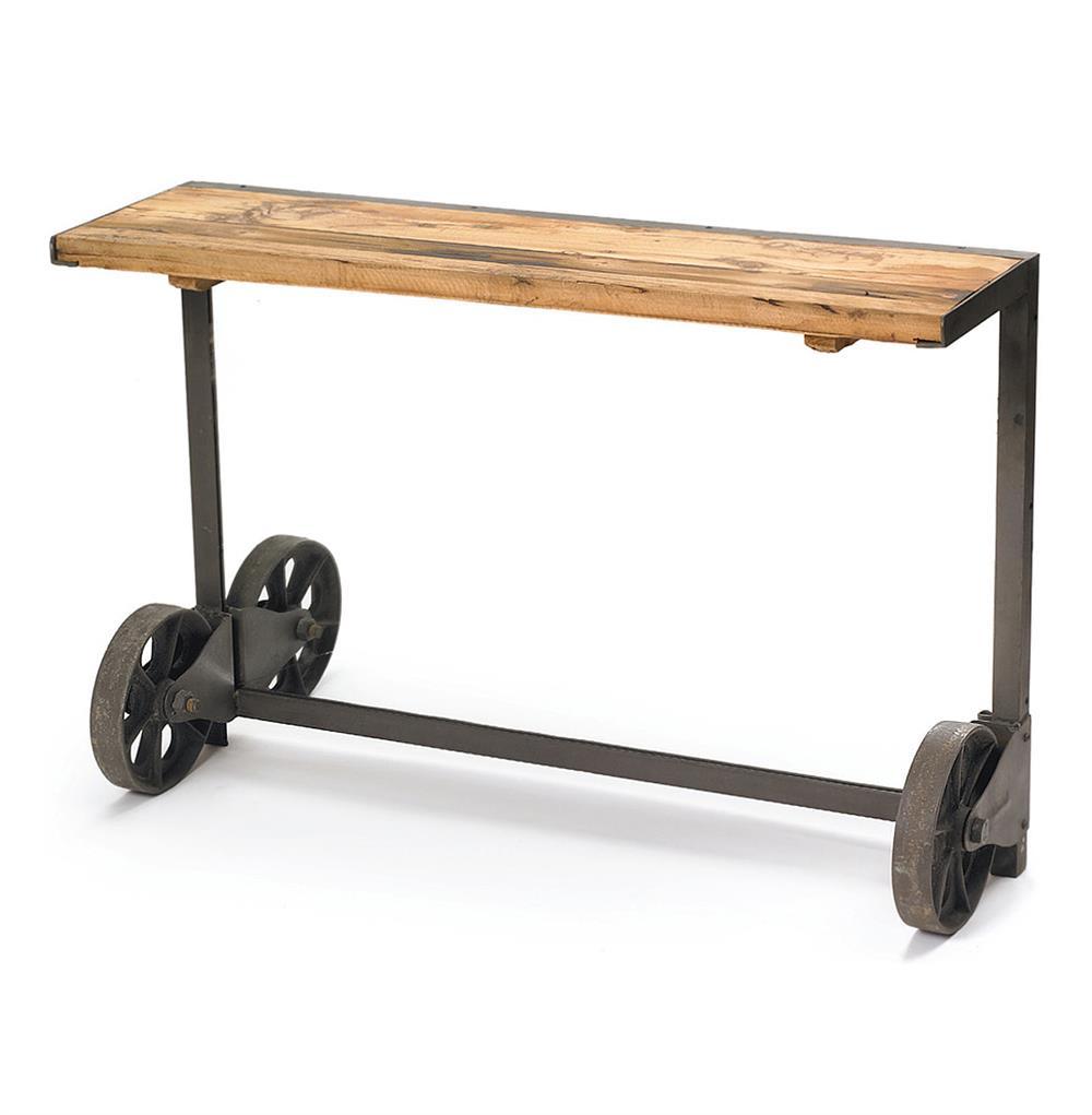 Industrial steel loft style trolley console table kathy - Table basse metal industriel loft ...