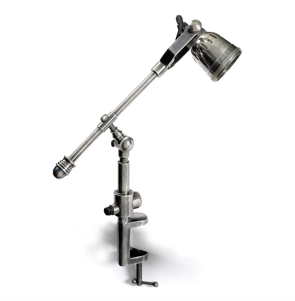 Leighton Architectural Drafting Industrial Steel Clamp Desk Lamp : Kathy Kuo Home