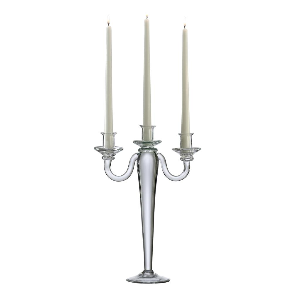 Alford clear glass tall inch taper centerpiece candelabra