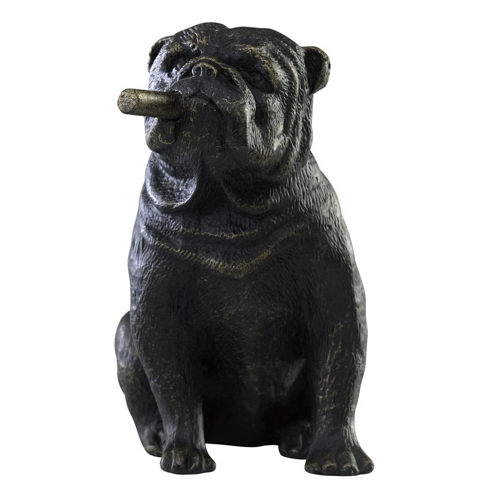 Popular Grady The Bulldog Smoking Cigar Sculpture | Kathy Kuo Home LD26