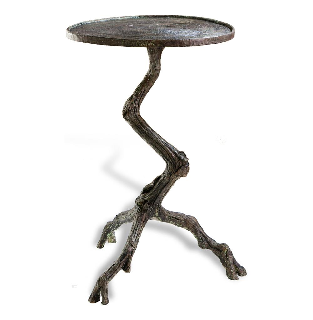 Tree Side Table ~ Steamboat tree branch modern rustic side table kathy kuo