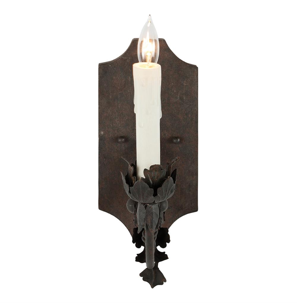French Country Wall Sconces For Candles : Ferronnerie French Country Acanthus Leaf Scroll Wall Sconce Kathy Kuo Home