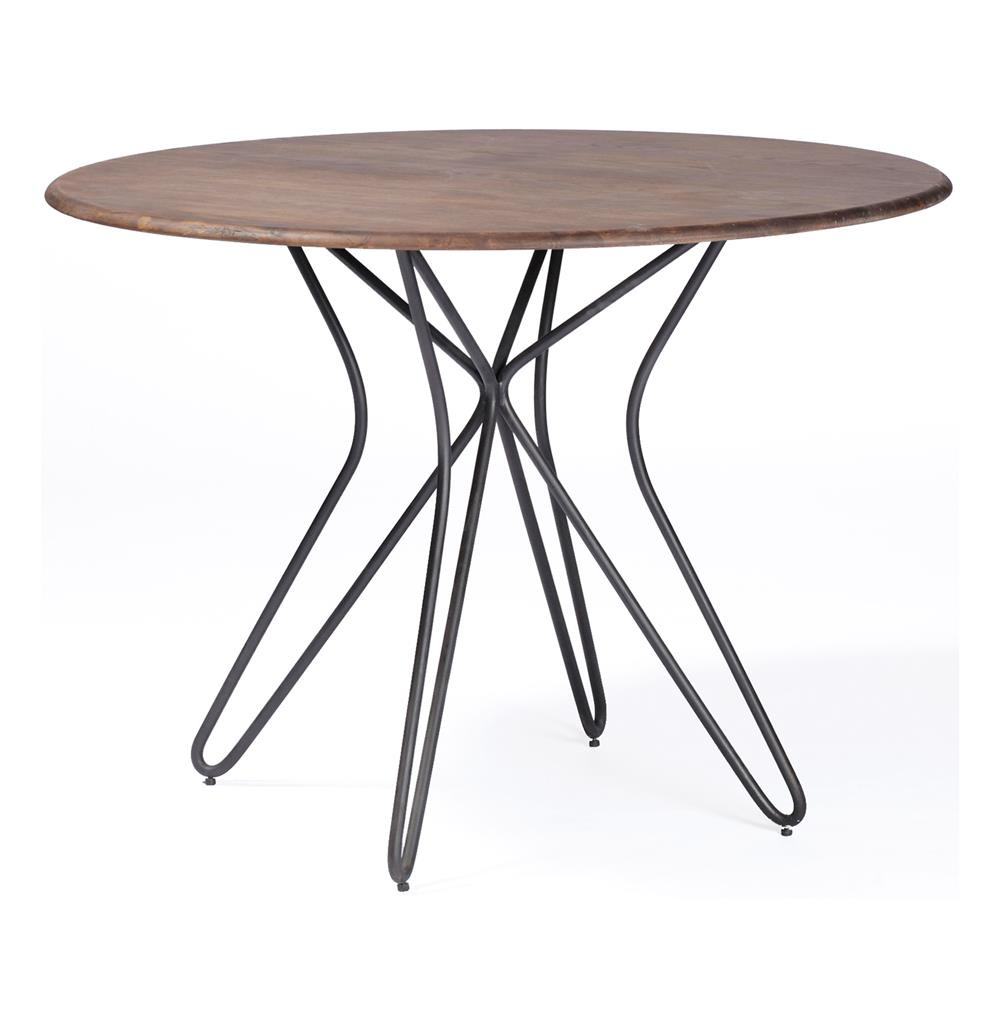 Tables Dining Henry Industrial Modern Paper Clip Bistro Table