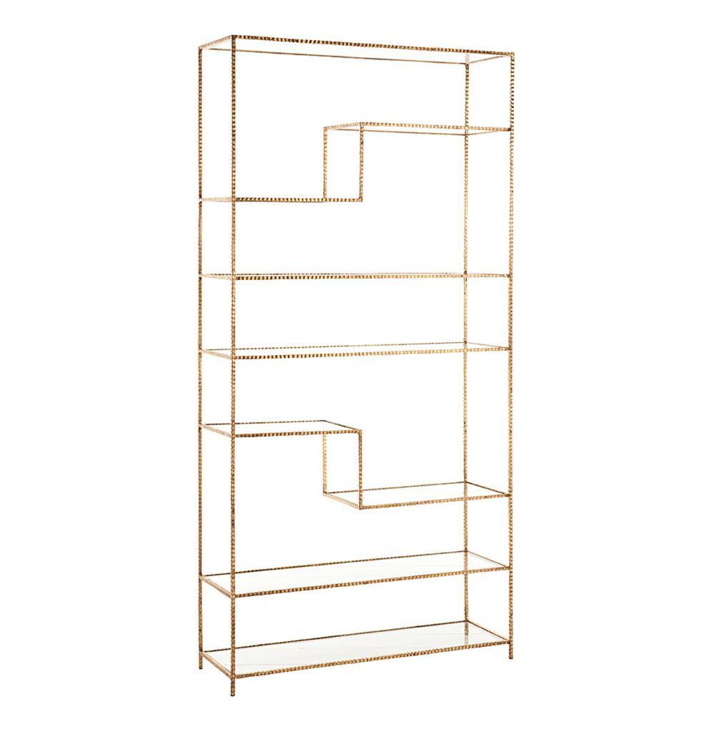 worthington hollywood regency gold leaf wrought iron bookcase. Black Bedroom Furniture Sets. Home Design Ideas