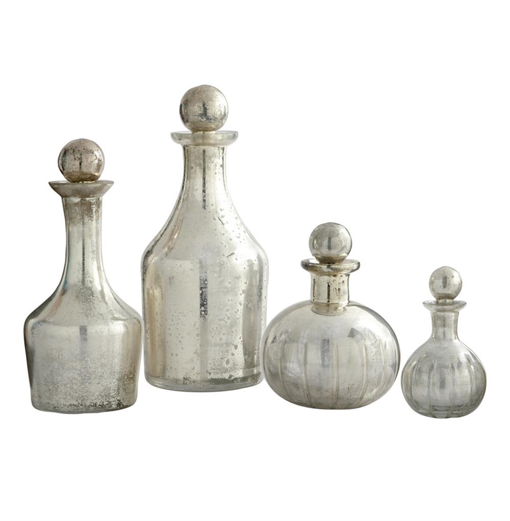 Blythe Modern Silver Small Decanters Decorative Bottles