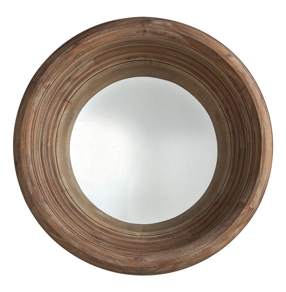 Modern rustic solid acacia wood 40 d deep convex mirror for Convex mirror for home